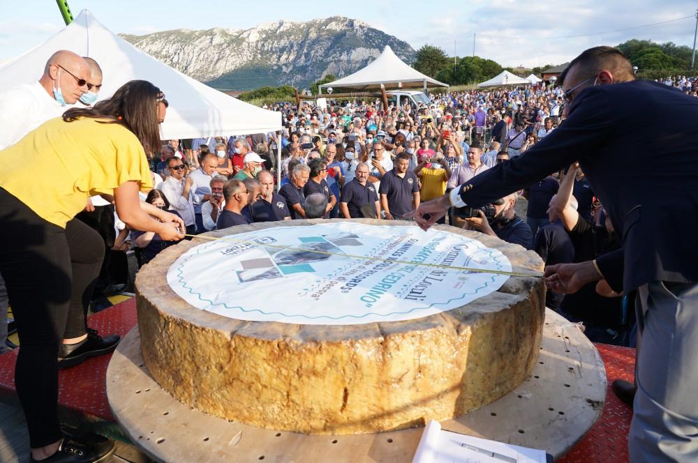 Fasi di misurazione della forma di formaggio